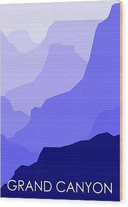 Grand Canyon Blue - Text Wood Print by Asbjorn Lonvig
