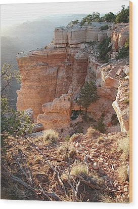 Wood Print featuring the photograph Grand Canyon Bluff by Nancy Taylor