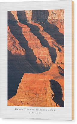 Grand Canyon Glow Wood Print