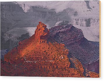 Grand Canyon In Red And Blue Wood Print by Viktor Savchenko