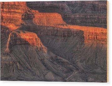 Grand Canyon Light Wood Print by Steve Gadomski