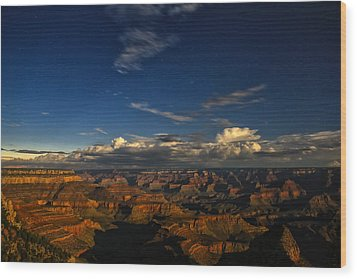 Grand Canyon Moonlight Wood Print