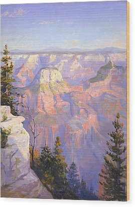 Grand Canyon North Rim Wood Print by Lewis A Ramsey