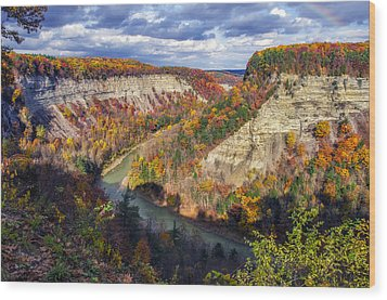 Grand Canyon Of The East Wood Print by Mark Papke