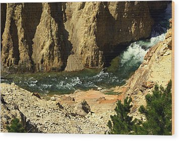Grand Canyon Of The Yellowstone 3 Wood Print by Marty Koch