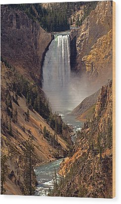 Grand Canyon Of The Yellowstone Wood Print by Robert Pilkington