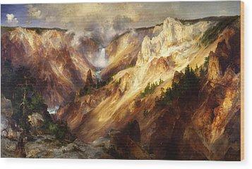 Grand Canyon Of The Yellowstone Wood Print by Thomas Moran