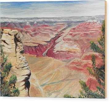 Grand Canyon Overlook Wood Print