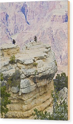 Wood Print featuring the photograph Grand Canyon Photo Op by Chris Dutton