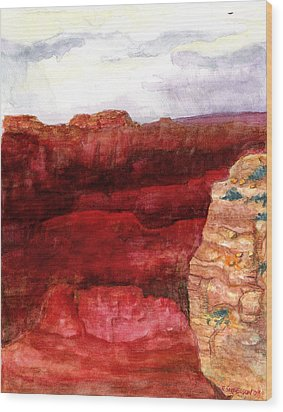 Grand Canyon S Rim Wood Print by Eric Samuelson