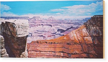 Wood Print featuring the painting Grand Canyon Scene by M Diane Bonaparte