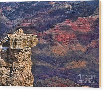 Wood Print featuring the photograph Grand Canyon Stacked Rock by Roberta Byram