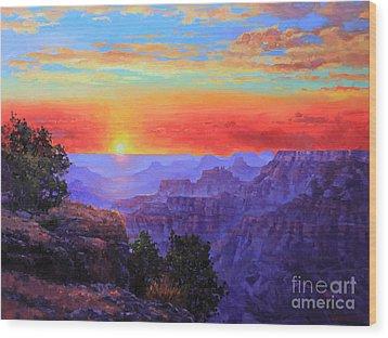 Grand Canyon Sunset Wood Print by Gary Kim