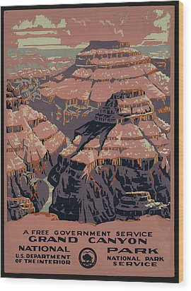 Grand Canyon Wood Print by Unknown