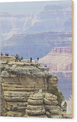 Wood Print featuring the photograph Grand Canyon Vista by Chris Dutton