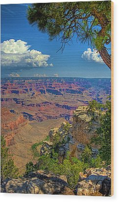 Grand Canyon Vista Wood Print by William Wetmore