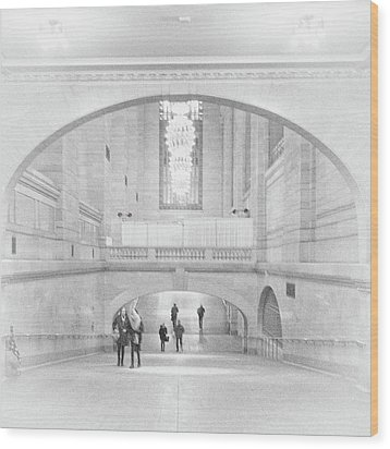Wood Print featuring the photograph Grand Central Station by Lora Lee Chapman