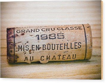 Grand Cru Classe Bordeaux Wine Cork Wood Print by Frank Tschakert
