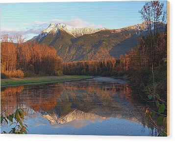 Mount Cheam, British Columbia Wood Print by Heather Vopni