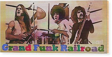 Grand Funk Railroad Wood Print