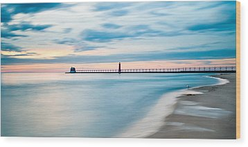 Grand Haven Pier - Smooth Waters Wood Print