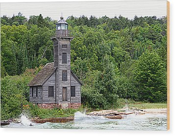 Grand Island East Channel Lighthouse #6680 Wood Print