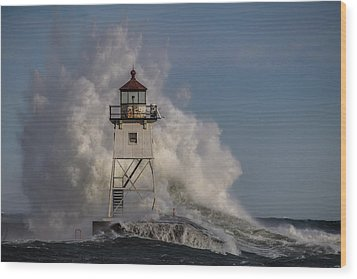 Wood Print featuring the photograph Grand Marais Light House by Paul Freidlund