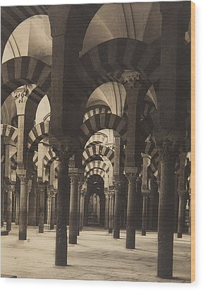 Grand Mosque Cordoba Wood Print by Claudi Carbonell