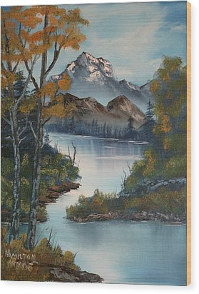 Grand Mountain Wood Print by Larry Hamilton