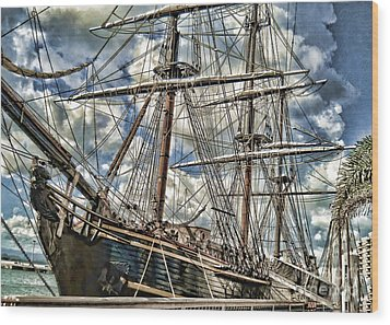 Wood Print featuring the photograph Grand Old Sailing Ship by Roberta Byram
