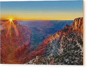 Grand Sunset Wood Print by Az Jackson