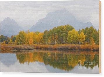 Grand Teton Iv Wood Print by John Blumenkamp