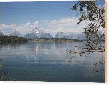 Grand Teton Range Wood Print