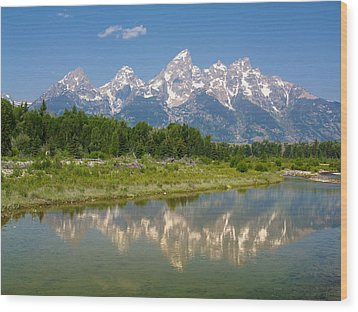 Grand Teton View Wood Print by Phil Stone