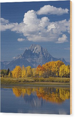 Grand Teton Xii Wood Print by John Blumenkamp