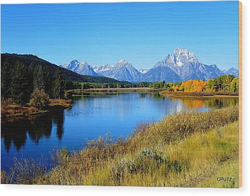 Grand Tetons 1 Wood Print by Carrie Putz