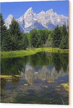 Grand Tetons 2 Wood Print by Marty Koch