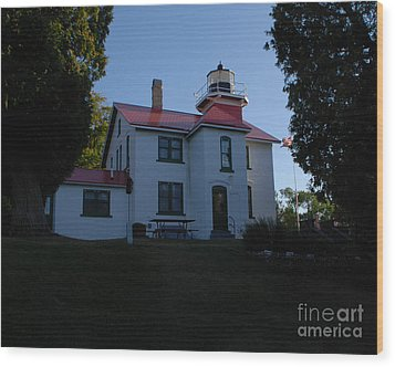 Grand Traverse Light House Wood Print