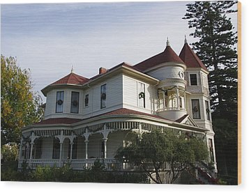 Grand Victorian Mansion  Wood Print by Jeff Lowe