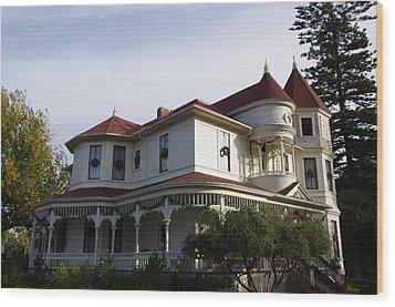 Grand Victorian Mansion  Wood Print