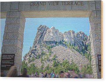 Grand View Wood Print by Mark Dunton