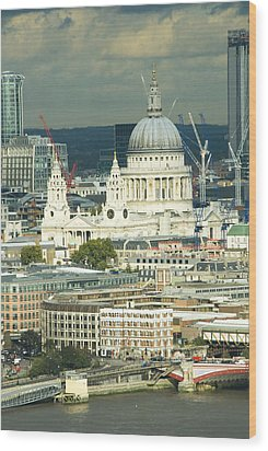 Grand View Of Central London Wood Print by Charles  Ridgway