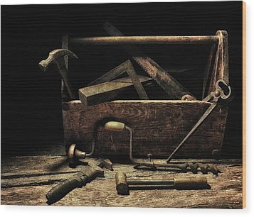 Granddad's Tools Wood Print by Mark Fuller