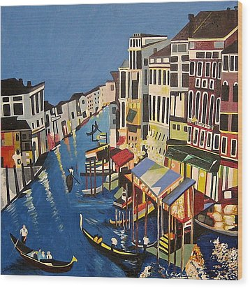 Grande Canal Wood Print by Donna Blossom