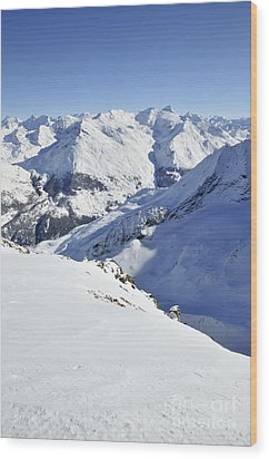Grande Sassiere And Petite Sassiere Wood Print by Andy Smy