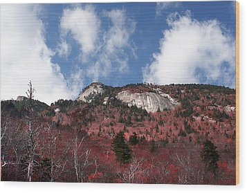 Grandfather Mountain East Side Wood Print