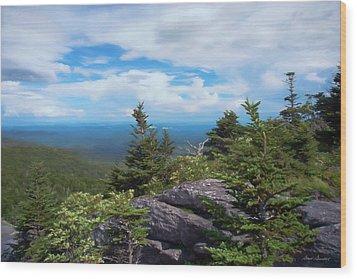 Grandfather Mountain Wood Print
