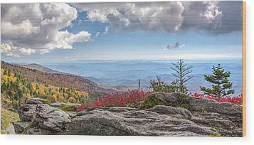 Grandfather Mountain Panorama 02 Wood Print