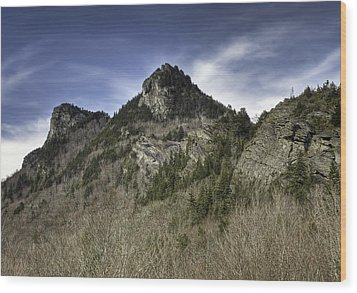 Grandfather Mt. Wood Print by Harry H Hicklin