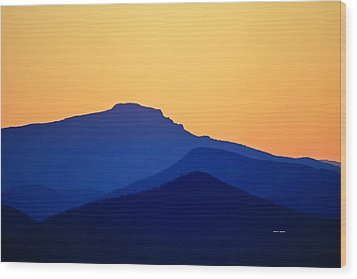 Grandfather Sunset Wood Print by Dale R Carlson